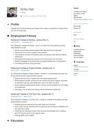 Hostess Resume Examples Restaurant Hostess Resume Sample Template Example CV Resume 21