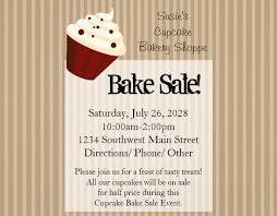 Bake Sale Flyer Templates Free Bake Sale Flyers Template Fundraiser Flyer Template Format