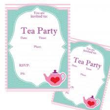 Tea Invitations Printable Tea Party Printable Invitations Party Supplies Decorations And