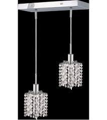elegant lighting 1282d o p cl sa mini 2 light 5 inch chrome pendant