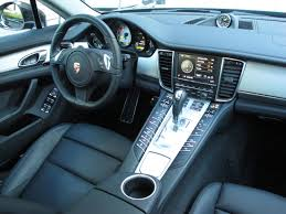 2014 porsche panamera interior. 2014 porsche panamera s ehybrid black interior dashboard view with steering wheel