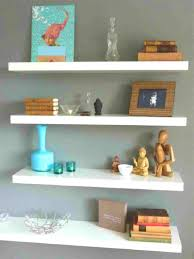 painting shelves ideasLiving Room  Splendid Varnished Wooden Wall Shelves Ideas With