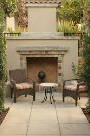 patios with fireplaces. concrete and brick fireplace on flagstone patio patios with fireplaces m