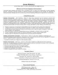 Database Administration Sample Resume 3 Database Administrator Resume