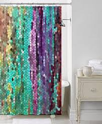 Interesting Purple And Gold Shower Curtains Curtain Morning Has Broken Mosaic Unique Fabric Perfect Ideas