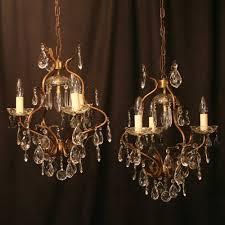 italian pair of birdcage antique chandeliers