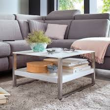 belenos glass top coffee table in white