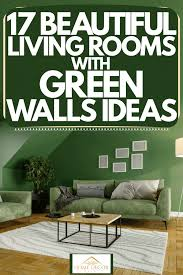 living rooms with green walls ideas