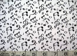 1/2 yard music/notes black/gray on white and 11 similar items &  Adamdwight.com