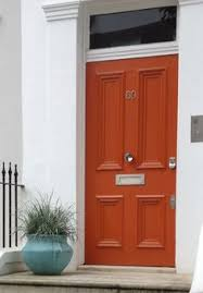 Orange front door Remodel Burnt Orange Verdigris Pinterest Ten Best Front Door Colours For Your House House Ideas Front