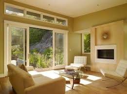 View in gallery Warm and soothing interiors look bright and lovely thanks  to the sliding glass doors
