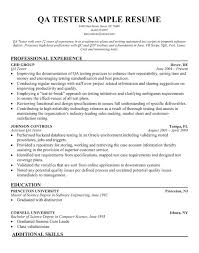 Entry Level Qa Resume Sample Spectacular Entry Level Qa Engineer
