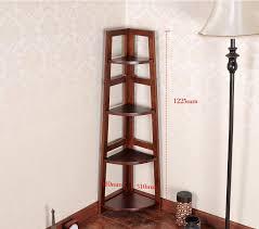 oak 100 solid wood cabinets bookcase corner shelf kitchen cabinets floating book bookshelf 4 layer