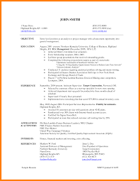 9 Entry Level Project Manager Resume Letter Signature