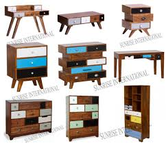 Retro Style Furniture Cabinet In Mango Wood Vintage Range