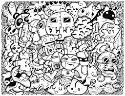 Art Doodle Funny Doodle Doodle Art Doodling Adult Coloring Pages