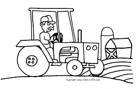 Farm Tractor Easy Coloring Pages Printable Big Tractor In 10447