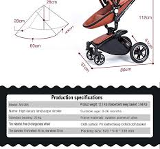 new brand baby strollers 3 in 1 leather baby pram aulon europe baby car seat basket