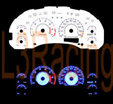 chevrolet s10 glow gauges 98 03 chevy s10 blazer mt w 7k tach reverse blue el glow white gauges kit fits chevrolet s10