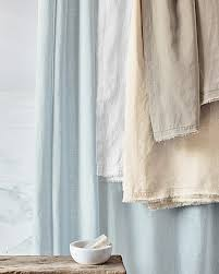 cool white linen shower curtain eileen fisher washed
