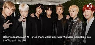 News Bts Sweeps Through 72 Itunes Charts Worldwide With