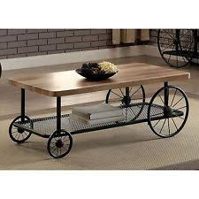 industrial look furniture. industrial style sand black wheeled coffee table wood top metal frame furniture look s