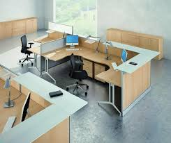 two person office layout. Enchanting Picture Of Home Office Design And Decoration Using Solid Oak Wood Two Person Modular Desk Wheel Black Leather Chairs Layout E