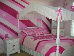 teenage bedroom wall designs. White Wooden Bedn With Fabric Canopy For Little Girl Bedroom Ideas Using  Vintage Nightstand And Pink Teenage Bedroom Wall Designs