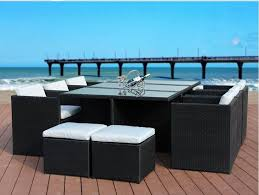 wicker furniture nz. Exellent Furniture BetaLife Rattan Outdoor Dining 11PCS Set With Wicker Furniture Nz