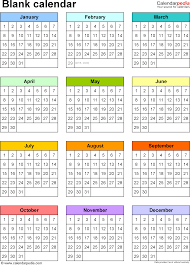 At A Glance 3 Month Calendar Blank Calendar 9 Free Printable Microsoft Word Templates