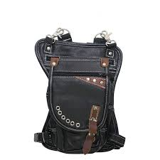 cowhide leather thigh bag