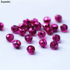 Isywaka Clear Rose Color 4*<b>6mm</b> 50pcs Rondelle <b>Austria faceted</b> ...