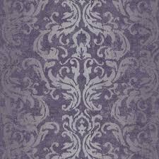 Silver Metallic Wallpaper Bedroom Purple Wallpaper So Pretty Purple In Love Pinterest