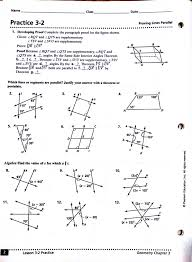 geometry practice worksheets with answers