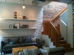 Favored Vintage Style Living Room Decorating Design With Exposed Brick Wall  Also Living ...