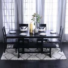 millwright 6 piece black dining set
