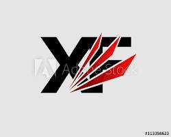 xf logo vector graphic branding letter