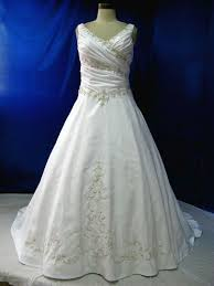 plus size celtic wedding dresses. beautiful plus size wedding dress with straps in satin and embroidered lace very flattering ruching bridal gown celtic dresses