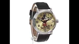 disney mens 56109 vintage mickey mouse watch black leather disney mens 56109 vintage mickey mouse watch black leather band watches