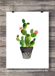 cacti art print watercolor cactus hand painted by southpacific on cactus wall art nz with cacti art print printable art watercolor cactus painting watercolor