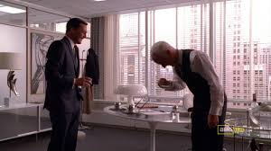 roger sterling office. The Waldorf Stories Don Roger Laugh Danny Sterling Office