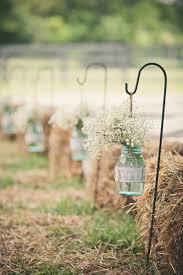 Blue Mason Jars Wedding Decor Blue Mason Jar Ceremony Aisle Decor Eilas Photography 27