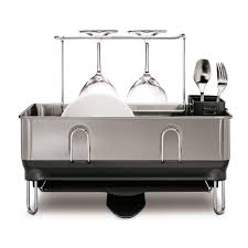 Kitchen Dish Rack Simplehuman Compact Stainless Steel Frame Fingerprint Proof