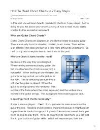 How To Read Guitar Chord Charts In 7 Easy Steps