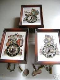 3 german hummel novelty wall clocks