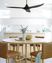 ceiling fan over dining table