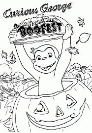 Yio4gm9ot For Curious George Halloween Coloring Pages Advanced