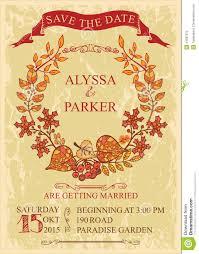 Autumn Wedding Invitations Templates