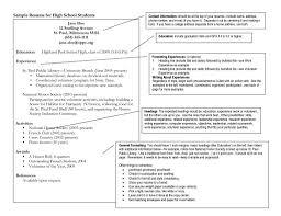 College Resume Example For High School Seniors Best College Resume