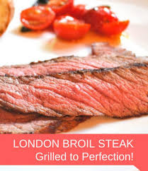 London Broil Steak Grilled To Perfection